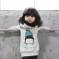 Kids Clothes 2016 Autumn Baby Girl Cute Long Sleeve Pullover Winter Warm Penguin Pattern Girls Thicken Sweatshirt Hoodies 0 3Y on Aliexpress.com | Alibaba Group