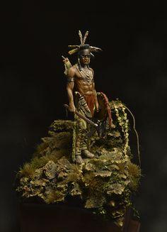 American Indian warrior scale figure.