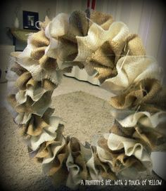 Great look for Fall decor...perhaps over a mantle at the staging house or in the foyer at that house.