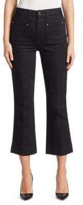 Khaite Raquel Patch Pocket Flare Jeans Flare Jeans, Travel Tips, Capri Pants, Silhouette, Pocket, American, Fashion, Moda, Capri Trousers