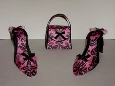 High Heel Shoes and Purse Favor Gift Box by craftticlecreation, $10.00