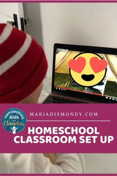 Homeschool Classroom Set-Up-Remote Learning. We are learning at home and getting our place ready to have some SUCCESS in doing so. #Homeschool #ClassroomSetup #LearnFromHome #RemoteLearning #LearningAtHome Visual Learning, Learning Time, Learning Spaces, Classroom Setting, Classroom Setup, Google Classroom, Teaching Character, Multiplication For Kids, Time Management Skills