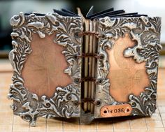 Etched and Soldered Metal Book - Rose.