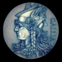 Winter Goddess of Gaul by TheNightGallery.deviantart.com on @DeviantArt