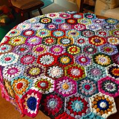 "243 Likes, 20 Comments - @susiestitch1 on Instagram: ""I've added a few more pieces to this. #crochetblanket  #hexagons #handmade #debbliebliss…"""