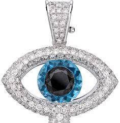 theo fennell evil eye diamond pendant Goodluck Charms, Turkish Eye, Titanic Jewelry, Eye Of Horus, Evil Eye Pendant, Evil Eye Charm, Hamsa Hand, Fennel, Diamond Pendant