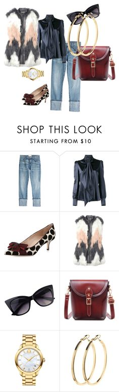 """""""Sin tiempo!!!"""" by susana-larratxo-donosti ❤ liked on Polyvore featuring Current/Elliott, Yves Saint Laurent, Manolo Blahnik, Rebecca Taylor, Movado and Pieces"""