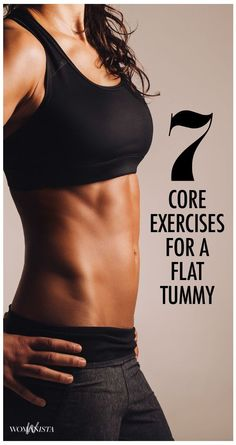 Add these healthy living core exercises to see quick results—shrinking waist, flatter stomach, more endurance, more muscle — which means more calories/fat burned. | From @womanista