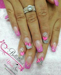 Cute Nail Art, Cute Nails, Pretty Nails, Ideas Para, Beauty, Design, Nail Jewels, Cool Ideas, Enamels
