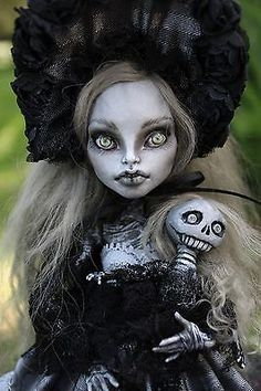 OOAK Art Doll Monster High Custom Repaint Victorian Mummy by A Gibbons Horror | eBay