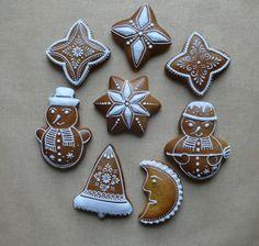 Dekoratívne medovníky - Fotoalbum - Vianočné Gingerbread Cookies, Christmas Cookies, Food Decoration, Sugar Art, Sugar Cookies, Desserts, Photograph Album, Gingerbread Cupcakes, Xmas Cookies