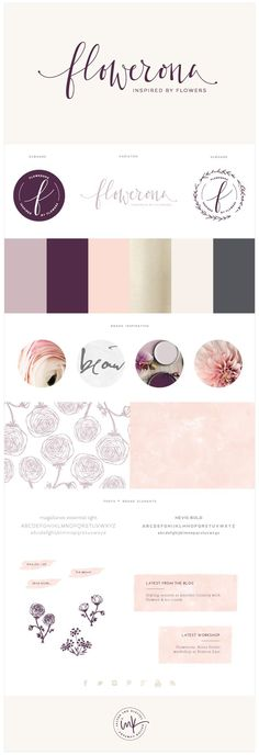 feminine purple and pink branding inspiration