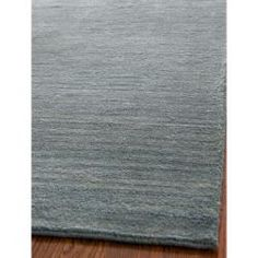 Loomed Knotted Himalayan Solid Blue Wool Rug (5' x 8') | Overstock.com Shopping - Great Deals on Safavieh 5x8 - 6x9 Rugs