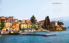 Free September 2015 desktop wallpaper with a mini calendar. || Varenna, Lombardy, Italy. || Download 1920x1200 , 1440x900 , 1280x800. || Toi Et Moi Photogaphy