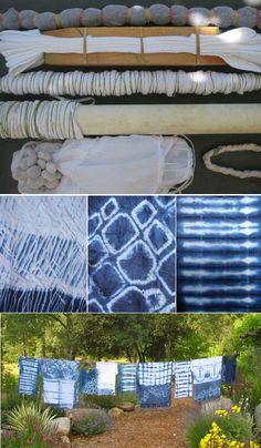 Técnica: teñir con el método Shibori ~ El Costurero Pattern                                                                                                                                                                                 Más