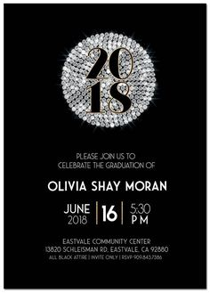 Get your customized version of this design today! Graduation Party Invitations, Graduation Party Decor, Graduation Photos, Graduation Announcements, Grad Parties, Invites, Jw Printables, Gatsby Style, Party Party