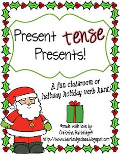 Classroom Freebies: Christmas Verbs Freebie!