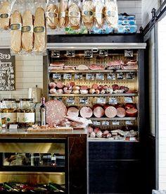 An eating guide to Carlton Deli Shop, Deli Cafe, Deco Restaurant, Restaurant Design, Bakery Store, Italian Deli, Food Retail, Butcher Shop, Charcuterie