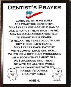 Dentist Prayer Plaque by DogHouseCarver on Etsy, $17.00