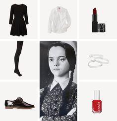 diy halloween costumes / pt 5  sc 1 st  Pinterest & Adams Family Wednesday Addams Halloween Costume Ideas Fashion Blog ...