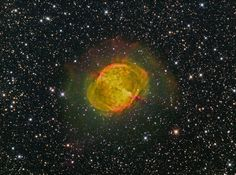 """M27 The Dumbbell Nebula H-Alpha, OIII & SII """"CFHT Palette"""" 