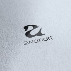 "Incredible usage of the ""a"" to depict the swan.  Swanart by SPARKcreative (via Creattica)"