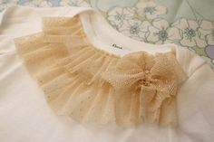 Honeybee Vintage: DIY: Ruffle Onesie - what a GREAT idea!  Gonna do this for sure!