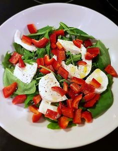 Fail caprese salad with no tomatoes by BeckyBecky Blogs