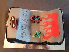 Skateboard taart, Brian 7 jaar