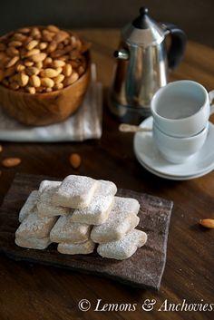 Ricciarelli: Almond Paste Cookies @Jean Pope | Lemons & Anchovies