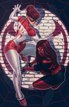 """Scarlet MJ Mary Jane Watson: The Scarlet Spider! I was a really big fan of comic book storyline """"Spider-Island"""". At one point in the story Mary Jane, along with pretty much eve. Comic Book Characters, Marvel Characters, Comic Character, Comic Books, Hq Marvel, Marvel Dc Comics, Marvel Heroes, Heros Comics, Comics Girls"""