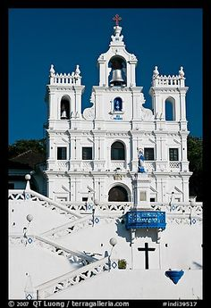 Church of our Lady of the Immaculate Conception facade, Panaji. Goa, India
