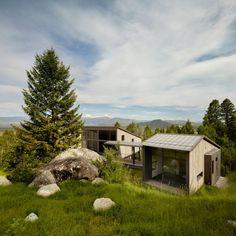 Dezeen @Dezeen  5h5 hours ago This home on a rugged Wyoming mountainside wraps around a giant boulder: http://www.dezeen.com/2016/08/25/carney-logan-burke-boulder-retreat-mountainside-wyoming/ … #architecture