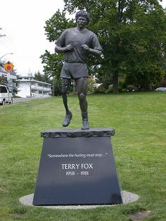 Terry Fox Statue Mile one