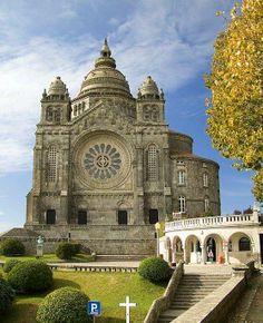 Basilica of Santa Luzia Viana do Castelo Portugal. Constructed in 1903 it was inspired by the Sacré Coeur de Montmartre in Paris. Places In Portugal, Visit Portugal, Spain And Portugal, Portugal Travel, Lisbon Portugal, Algarve, Beautiful Castles, Beautiful Places, Saint Marin