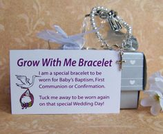 Baby Girl Baptism Bracelet Grow With Me by luckycharm5286 on Etsy, $38.00