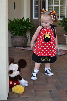 Personalized Disney Minnie Mouse Pillowcase Dress by SeamsSoPretty, $35.00