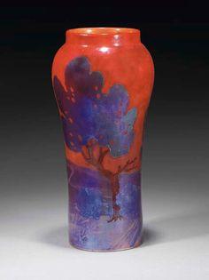 Zsolnay tájképes váza