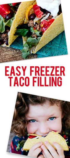 Easy Freezer Taco Filling! Good stuff to keep on hand for the busy nights!