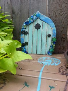 Garden Gnome/Fairy Door - Jackie and I crafted this past weekend.  FUN Times !! This one was for Mom.