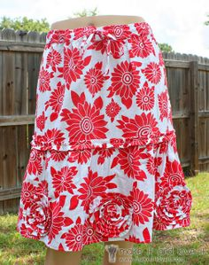 Skirt Alterations � Long to Short�with added Flowers/Ruffles