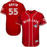 #MLBShop.com - #MLBShop.com Men's Toronto Blue Jays Russell Martin Majestic Scarlet Fashion Canada Day Flex Base Authentic Player Jersey - AdoreWe.com