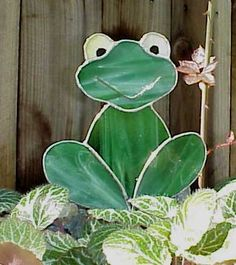 stained glass garden stake - Google Search