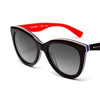 Women's black acetate sunglasses with oversize frame by Dolce