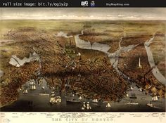 Currier & Ives #map of the City of #Boston, #Massachusetts (1873) — http://www.bigmapblog.com/2011/map-of-the-city-of-boston-1873/