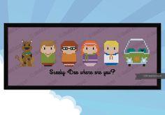 Scooby Doo parody Cross stitch PDF pattern by cloudsfactory