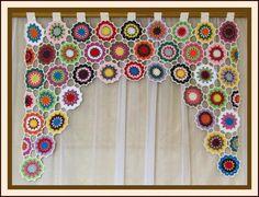 Crochet Curtain Pattern, Crochet Curtains, Curtain Patterns, Crochet Flower Patterns, Crochet Blanket Patterns, Crochet Doilies, Crochet Flowers, Tapestry Bedding, Boho Tapestry