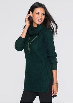 Długi sweter dzianinowy Miękki • 89.99 zł • bonprix