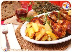 Cosce di pollo impanate al forno con patate
