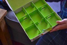 bludiště pro kuličku - dárková krabička od čajů